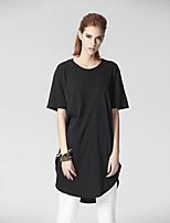 Heart Soul Women's Round Neck Short Sleeve T Shirt Black-26AD20869