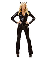 Cosplay Costumes / Party Costume Angel/Devil Festival/Holiday Halloween Costumes Black Solid Leotard/Onesie / More Accessories Halloween