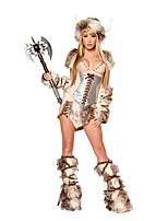 Costumes Plus de costumes Halloween Jaune Léopard Térylène Robe / Plus d'accessoires