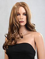 Brown Color Long Curly Wigs Capless Synthetic Wigs For Afro Women