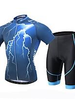 XINTOWN® Camisa com Shorts para Ciclismo Homens Manga Curta MotoRespirável / Secagem Rápida / Resistente Raios Ultravioleta / Tapete 3D /