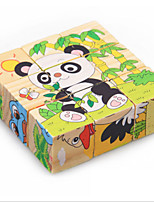 Honeybee Cartoon Baby Wooden Toy 9pcs Plane Puzzle Jigsaw Educational Gift