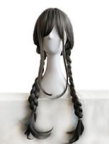 Cosplay Wig Harajuku Lolita Grey Long Straight Hair Grandma 28 Inch Ash Braid Cos Wig