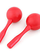 2 x Plastic Red Maracas Shaker Rattles Percussion Karaoke Disco Kids