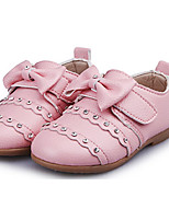 Girl's Loafers & Slip-Ons Spring / Fall Sandals PU Casual Flat Heel Bowknot Yellow / Pink / White Others