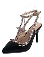 Women's Heels Fall Heels PU Casual Stiletto Heel Rivet Black / Red / White Others