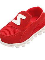 Черный Красный Серый-Для девочек-Для прогулок Повседневный-Тюль-На плоской подошве-Удобная обувь-Кеды