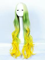 Long Curly Wig Female Hair Euramerican Fashion High Temperature Silk Dyeing Gradient Anime Cosplay Wig