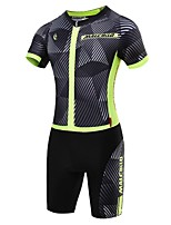 Sports Cycling Jersey with Shorts Men's Short Sleeve BikeBreathable / Quick Dry / Front Zipper / Wearable / High Breathability (>15,001g)