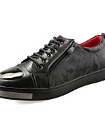 Men's Sneakers Spring / Fall Comfort PU Casual Flat Heel  Black Sneaker