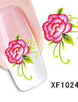 Nail Art Советы наклейки оберток фольги цветок дизайн ногтей маникюр наклейки ногтей Переброска воды