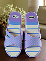 Women's Slippers & Flip-Flops Spring Summer Mary Jane Rubber Casual Flat Heel Others Blue Pink Purple Walking