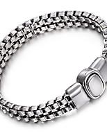 kalen®2016 pulseira cadeia nova ligação de alta polido brilhante motociclista legal pulseira jóias masculina acessórios de presente