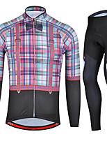 Deportes Maillot de Ciclismo con Mallas Unisex Mangas largas BicicletaTranspirable / Secado rápido / Diseño Anatómico / Resistente a los