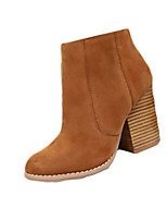 Women's Boots Winter Fashion Boots Fleece Casual Chunky Heel Others Black / Yellow / Red / Gray Others