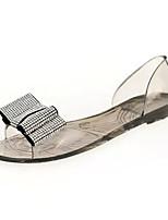 Women's Sandals Fall Sandals PU Casual Flat Heel Bowknot Black / White / Orange Others