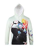 Inspired by 3D Clown Long Sleeve Hoodie Cosplay Hoodies Print Long Sleeve Coat Clothing Round Halloween
