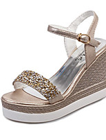 Women's Sandals Summer Platform PU Casual Wedge Heel Buckle Silver / Gold Others