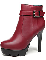 Women's Boots Heels Leatherette Wedding / Party & Evening Stiletto Heel Others Black / Burgundy Others