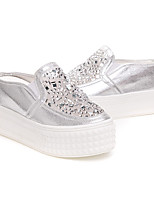 Girl's Flats Summer Mary Jane PU Outdoor Flat Heel Others Pink White Silver Walking