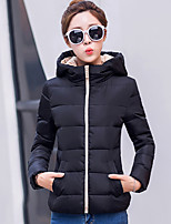Women's Solid Slim Fashion Warm Frivolous Plus Size Padded Coat Street chic Hooded Long Sleeve