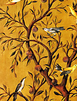 Non-woven Aisle TV Background Large Mural Wallpaper Tree and Birds Art Wall Decor Wall Paper