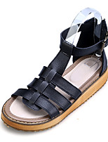 Women's Sandals Summer Creepers Pigskin Outdoor Casual Platform Buckle Black White Silver Others