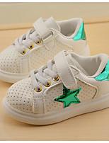 Boy's Sneakers Fall Closed Toe Leatherette Outdoor Flat Heel Magic Tape Green / Purple Sneaker