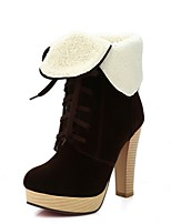 Women's Boots Fall / Winter Snow Boots Leatherette Outdoor / Dress / Casual Chunky HeelBlack / Brown Others