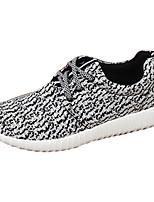 Черный Серый-Мужской-Для прогулок Повседневный Для занятий спортом-Ткань-На плоской подошве-Удобная обувь-Кеды