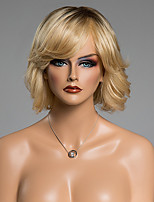 Tail Upwards Side Bang Short Fluffy Vogue  Human Hair Wig