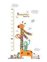 Wall Stickers Wall Decals Style Cartoon Animals Measure Your Height PVC Wall Stickers