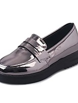 Women's Loafers & Slip-Ons Spring Fall Comfort PU Casual Low Heel Others Black Silver Walking