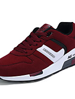 Men's Sneakers Spring / Fall Comfort / Round Toe PU Athletic Flat Heel Lace-up Blue / Red / Black and Red / Black