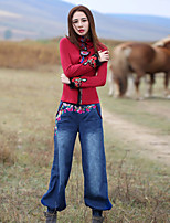 Our Story Women's Embroidered Blue Jeans / Harem PantsBoho Spring / Fall