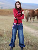 Damen Hose - Boho Harem / Jeans Baumwolle Mikro-elastisch