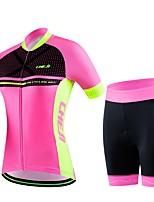 Esportivo® Camisa com Shorts para Ciclismo Mulheres / Homens / Unissexo Manga CurtaRespirável / Secagem Rápida / Vestível / Compressão /