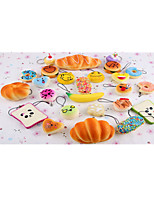 17PCS  Cute Soft Squishy For Cell phone Panda/Donut/Cake Charms Straps
