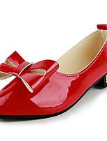 Черный / Красный / Бежевый-Женский-На каждый день-Полиуретан-На плоской подошве-С острым носком-На плокой подошве