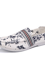 Men's Loafers & Slip-Ons Spring / Fall Comfort Fabric Casual Flat Heel Slip-on Blue / Red Sneaker