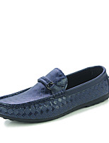 Men's Flats Spring / Fall Moccasin / Comfort  Outdoor / Casual Flat Heel Others Black / Blue / White Walking