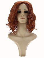 Movie The Avengers Natasha Romanoff Black Widow Cosplay Wig Short Wavy Synthetic Hair Women Costume Party Wigs