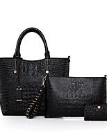 Women Tote PU All Seasons Casual Office & Career Shopper Zipper Aquamarine Ruby Black White
