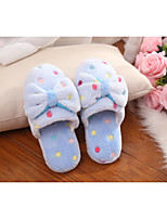 Women's Slippers & Flip-Flops Spring Summer Mary Jane Fleece Casual Flat Heel Others Blue Pink White Coffee Walking