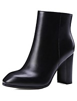 Women's Boots Spring Fall Winter Combat Boots Leather Outdoor Chunky Heel Others Black Brown Others