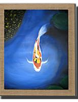 Ручная роспись Пейзаж / Животное Картины маслом,Modern / Классика / Европейский стиль 1 панель Холст Hang-роспись маслом For Украшение