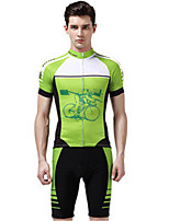Sports Bike/Cycling Clothing Sets/Suits Men's Short Sleeve Quick Dry / Windproof / Compression / Comfortable