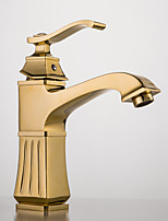 Bathroom Sink Faucet Antique Brass Single Handle Centerset
