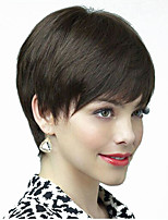 Black Color Short Straight European Synthetic Wigs Capless For Afro Women
