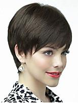 черный цвет короткий прямой европейский синтетические парики монолитным для женщин афро